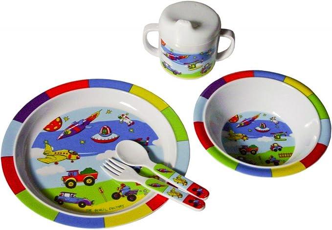 Bieco 04-000 5 piezas Juego de vajilla y cubiertos infantiles