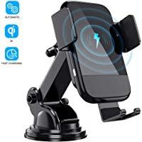 Wireless Car Charger,Ieiehd Auto-Clamping 10W Max Fast Charging Car Mount, Phone Holder Compatible with iPhone 11/11 Pro/11 Pro Max/XS/X/8, LG V30/V35, Samsung Note 10/S10+/S9,Huawei P30Pro