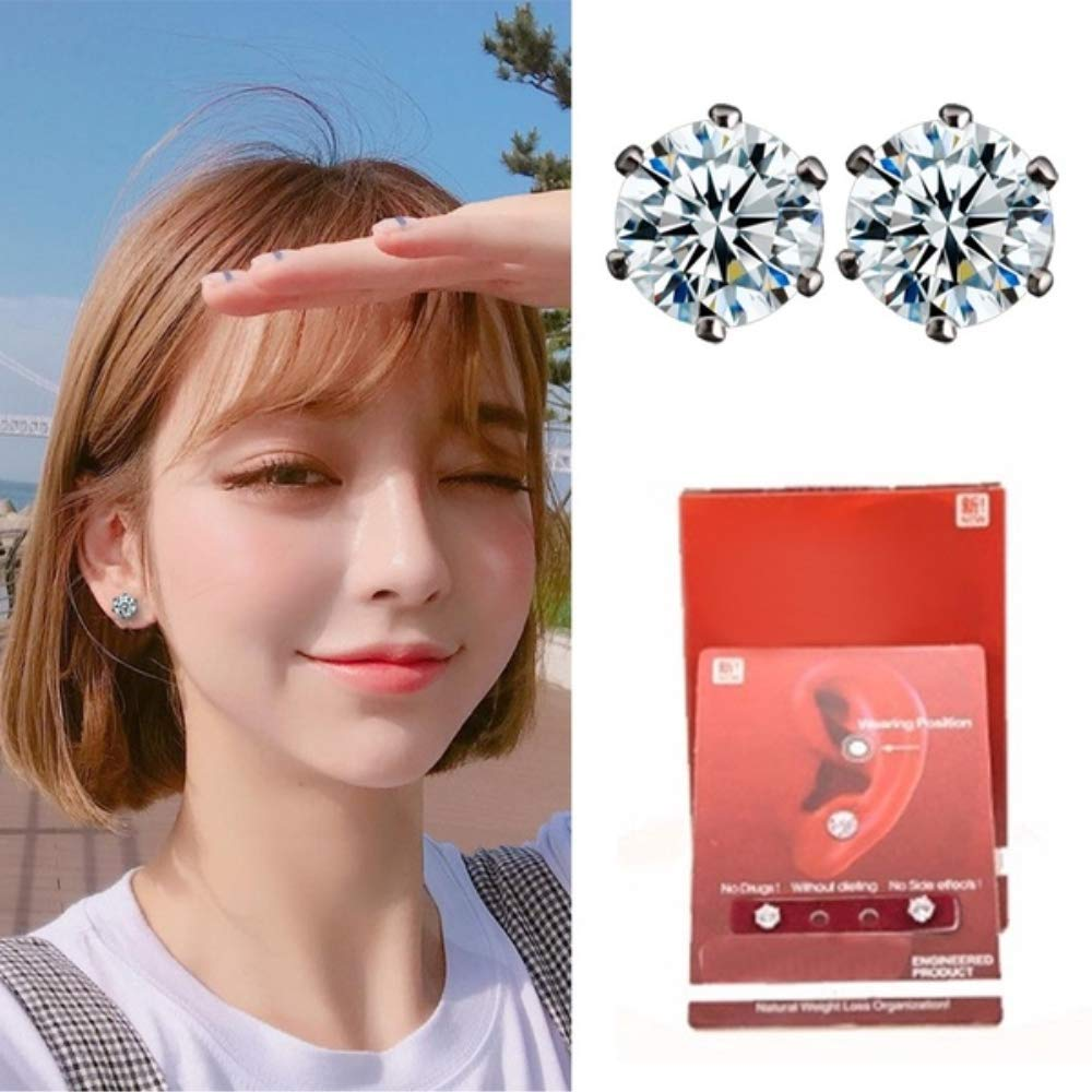 NiuChong Ear Nail Fat Burning Without Dieting Magnet Crystal Earring Ear Stud Valid Love it by NiuChong (Image #5)