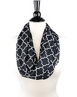 Pop Fashion Womens Infinity Scarf w/ Zipper Pocket & Pattern Print, Infinity Scarves