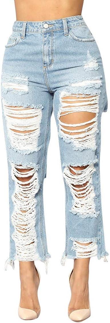 STORTO Women High Waist Slim Skinny Jeans Stretch Denim Pencil Pants