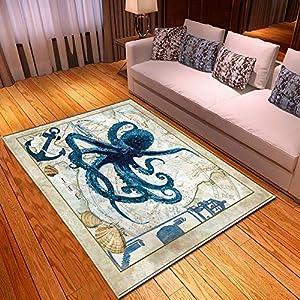 61htWRJBfRL._SS300_ Best Octopus Area Rugs