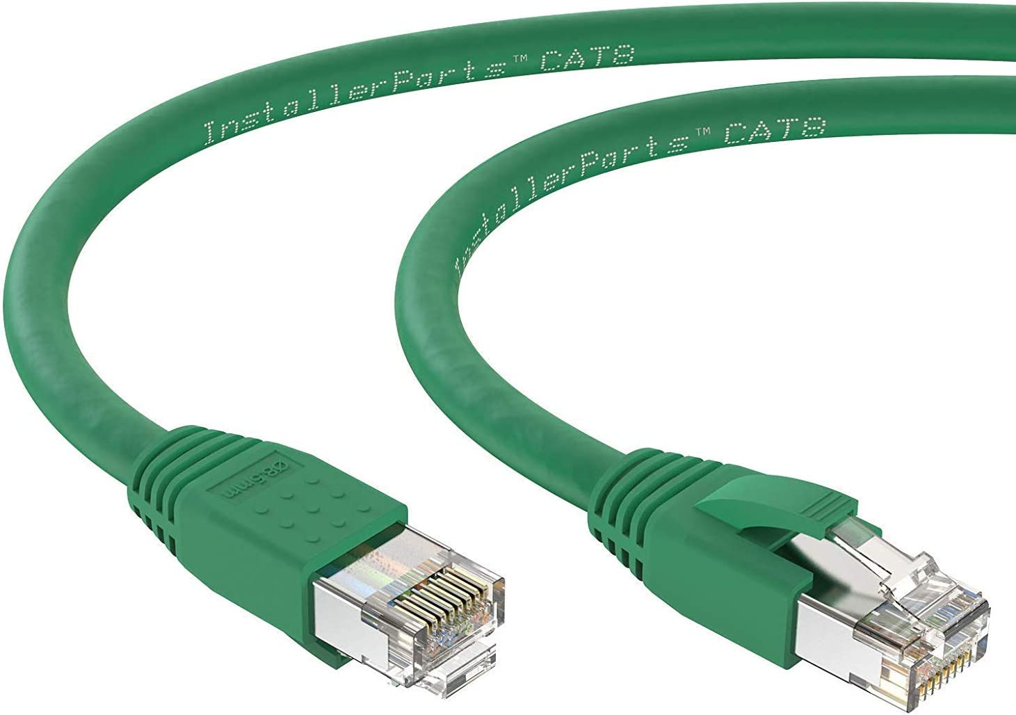 40Gigabit//Sec Network//High Speed Internet Cable for Router InstallerParts Ethernet Cable CAT8 Cable 25 FT Modem,Gaming//2000 MHZ Green Professional Series 24AWG