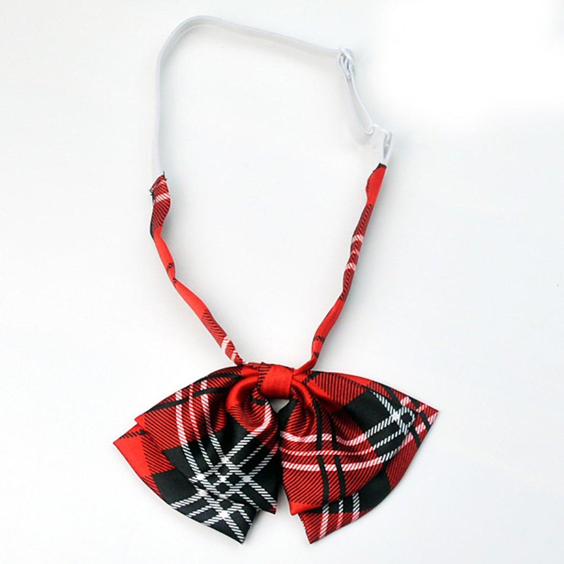 ee38ec4d7c04c URSFUR Nœud Papillon/Lavallière Motif Écossaise Fille Cravate Fil ...