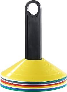 25 cônes de marquage avec supports, 5 coloris
