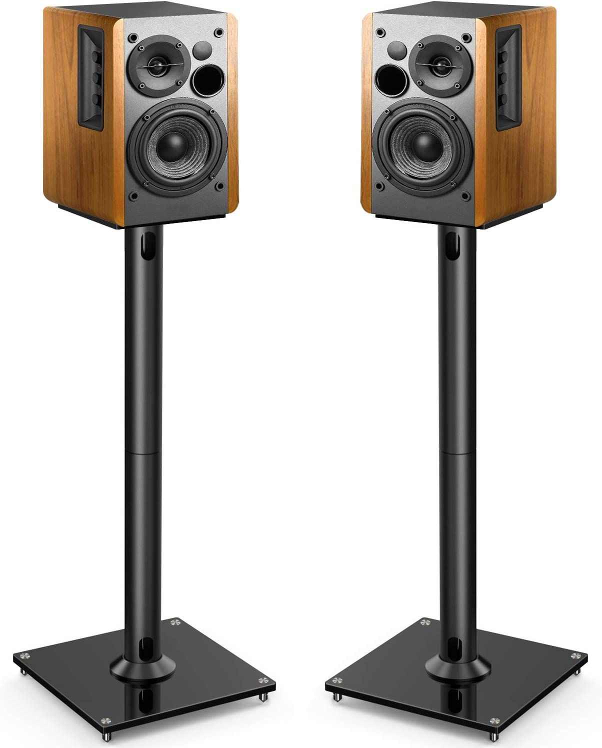PERLESMITH Universal Floor Speaker Stands 10 Inch for Surround Sound,  Klipsch, Sony, Edifier, Yamaha, Polk & Other Bookshelf Speakers Weight up  to