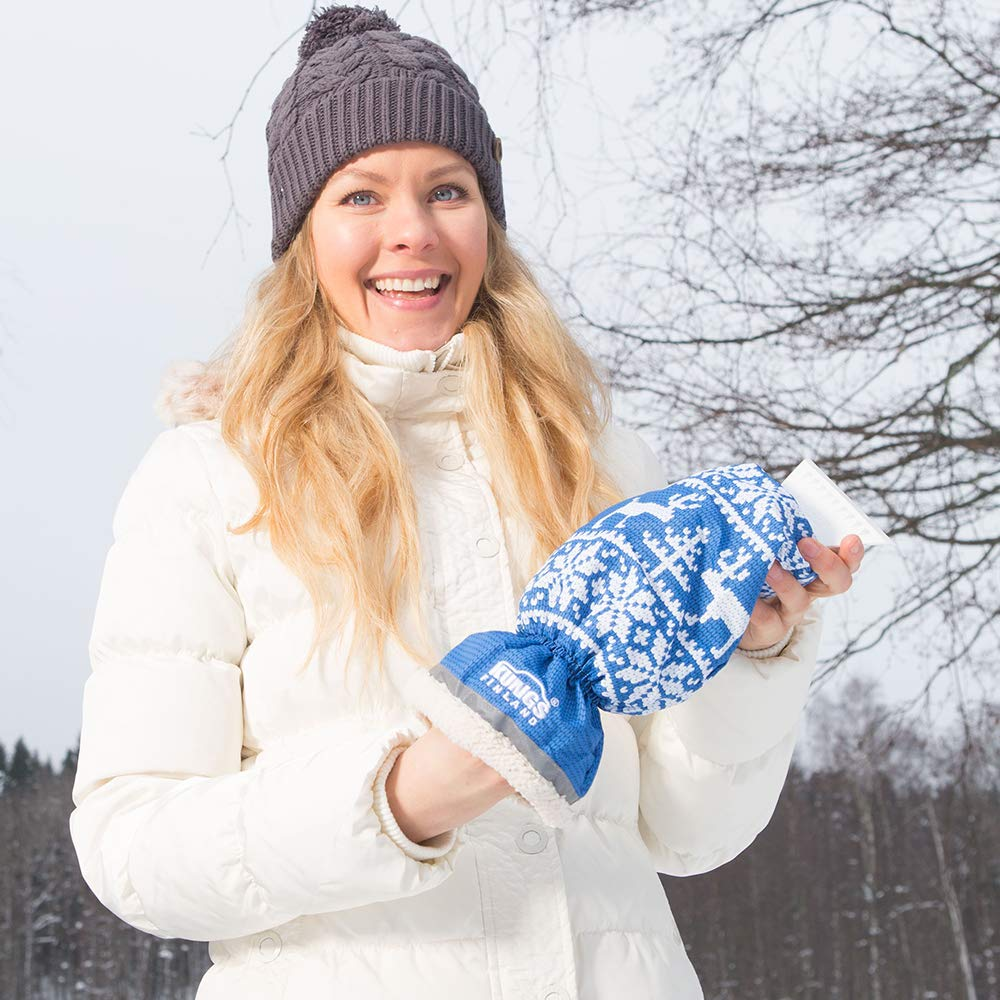 Eiskratzer mit Handschuh Kungs ARCTIC-IS f/ür Auto Rot Wasserdicht und extra warm