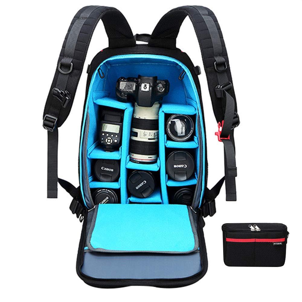 大容量カメラバックパック、耐摩耗性通気性カジュアルトラベルバックパック、男性と女性の盗難防止防水一眼レフカメラバッグ B07QMXLVZP  Large