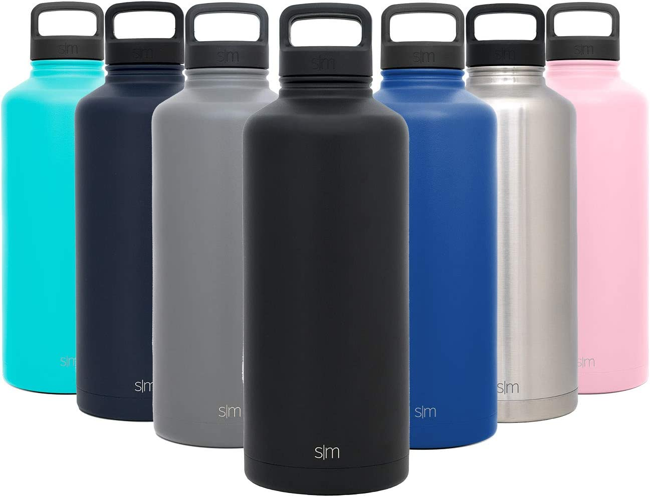 Simple Modern 84oz Summit Water Bottle + Extra Lid - Wide Mouth Vacuum Insulated 18/8 Stainless Steel Powder Coated