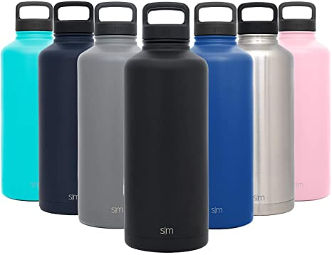 102ae51111 Simple Modern 84oz Summit Water Bottle - Stainless Steel Half Gallon Flask  +2 Lids -