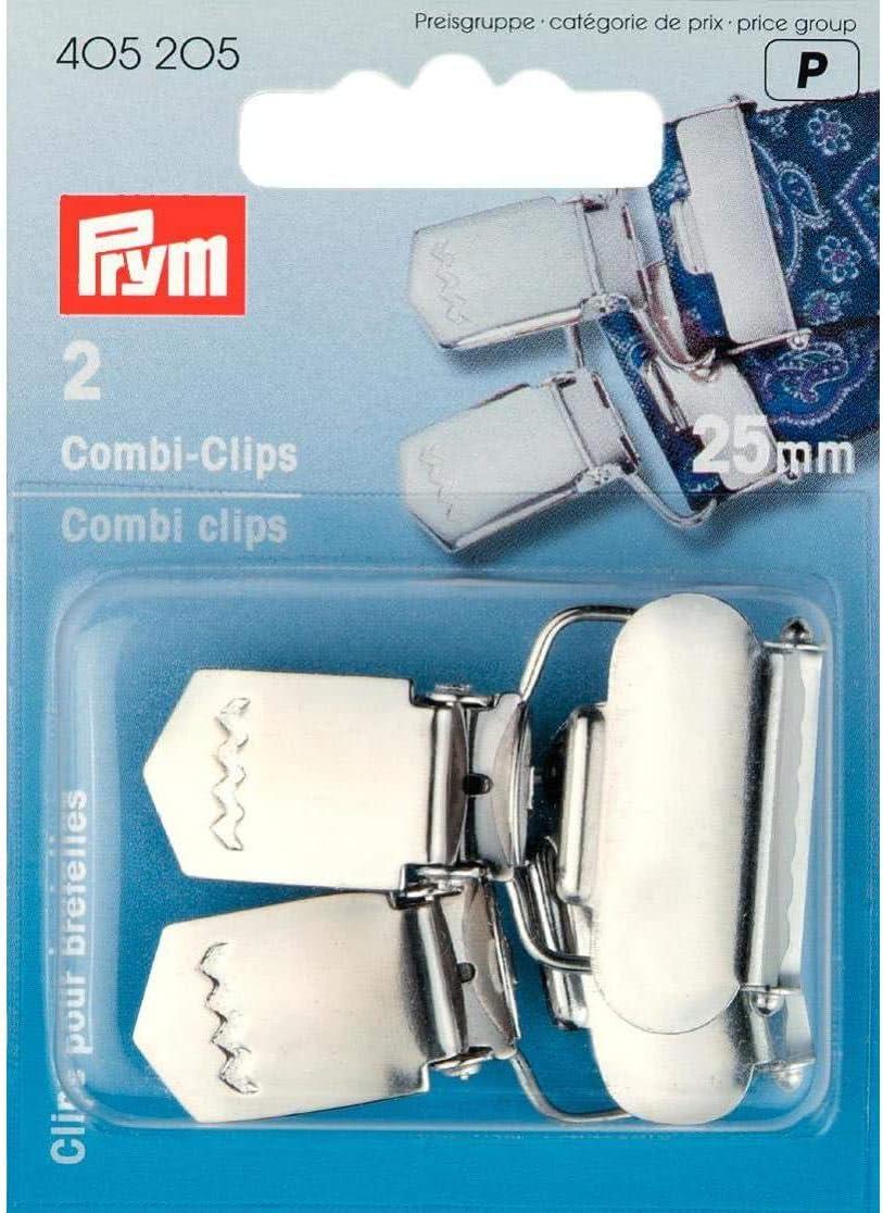 Prym 2 Combi-Clips zum Anklemmen 18 mm silberfarbig 405204