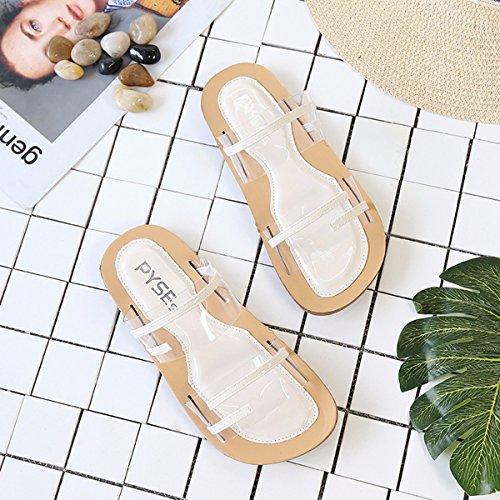 Plano Fondo De Zapatilla Mujer Zapatos Zapatillas Sandalias Beige QPSSP Zapatos Transparente 5OB5q