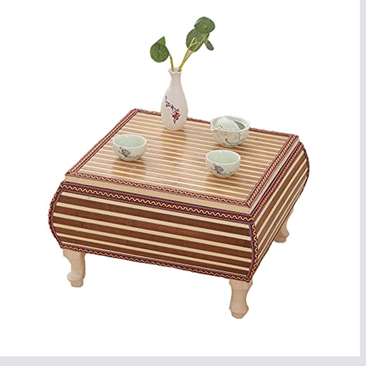 JH ratán Bay Ventana mesa Kleine Tabla Madera Maciza Fácil Tatami mesa europeos maciza mesa de madera, madera, marrón, 43 * 43 * 30cm: Amazon.es: Hogar