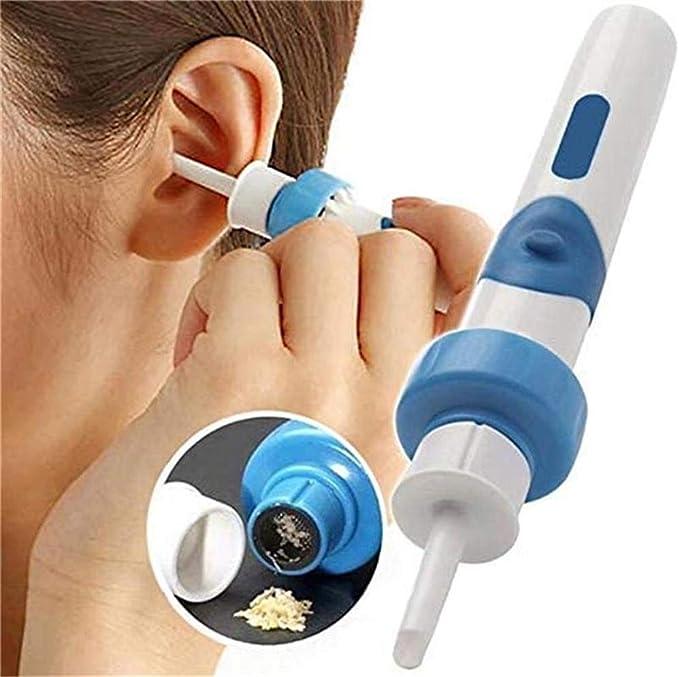 Asciugamano in Microfibra e 30 punte Elettrico Cerume orecchie Pulitore per Adulti e Bambini Macchina per la irrigazione dellorecchio Kit Elettronico per Pulizia Orecchie Tilcare Con Otoscopio