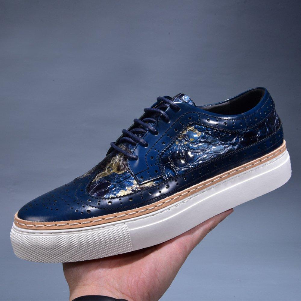 ZPFME Herren Leder Formelle Formelle Formelle Brogues Klassische Hochzeit Schuhe Runde Kappe Vintage Schnürschuhe Oxford Schuhe Für Männer Business Schuhe 8cacd7