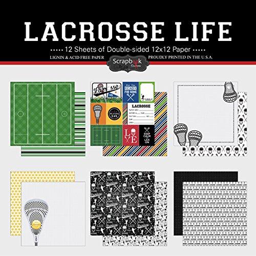 Scrapbook Customs Themed Paper Scrapbook Kit, Lacrosse Life