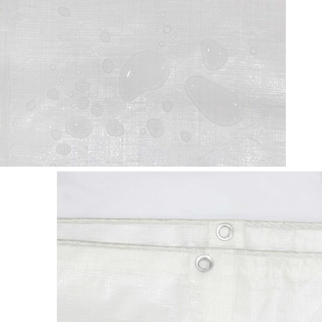 Teloni Accessori Tenda Foglio telone Impermeabile per Esterni Tarpsulin, Bianco, Bianco, Bianco, 180 g m², 15 Misure Disponibili Idea per l'escursionismo in Campeggio (Dimensioni   5m6m) | Del Nuovo Di Stile  | adottare  a49e8f