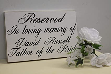 Amazon com: Wedding Sign In Loving Memory of Personalized