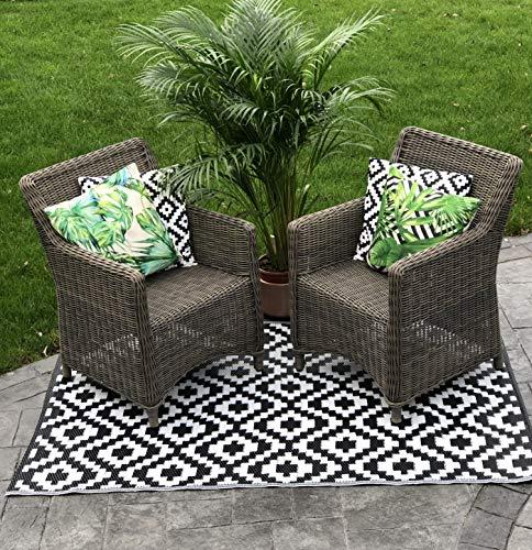 Garden and Outdoor Ezzy Outdoors Gio   Reversible Outdoor/Indoor Rug for Garden, Decking, Balcony & Patio   Withstands Weather, UV & Stains… outdoor rugs