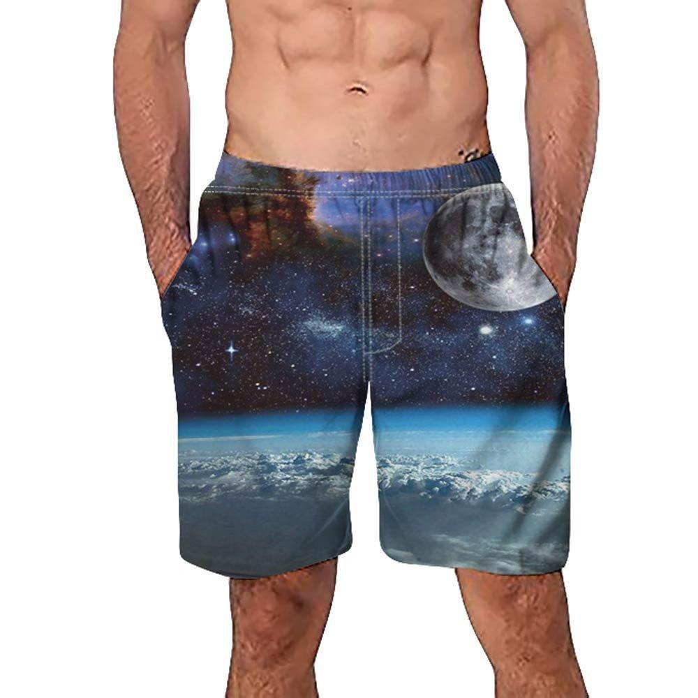 770031c532 ZhixiaYS Men's 3D Graffiti Print Casual Shorts Beach Pants Slim Fit Quick  Dry Short Swim Trunks | Amazon.com