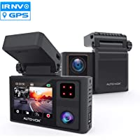Auto Vox 1080p Dual Dash Cam Front and Inside