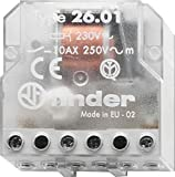 Finder 26.01.8.024.0000 SPST-NO 10A, 24V AC Coil, AgNi Contact, 2 Step Impulse/Latching Relay