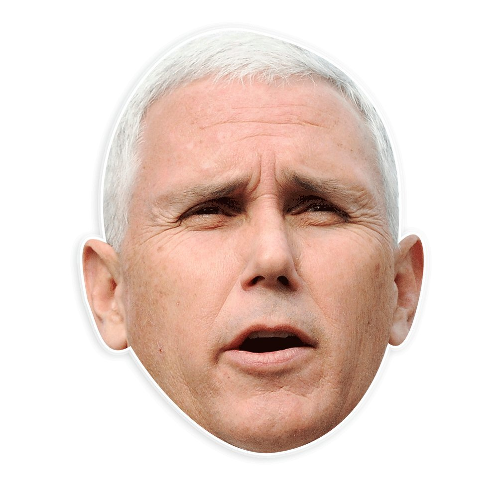 Unwelcome Greetings Excited Mike Pence Mask - Perfect for Halloween, Masquerade, Parties, Events, Festivals, Concerts - Jumbo Size Waterproof
