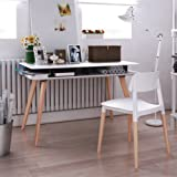 Pkolino Modern Desk Chair - White