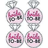 Bride-To-Be - Ring Decorations DIY Bridal Shower or Classy Bachelorette Party Essentials - Set of 20
