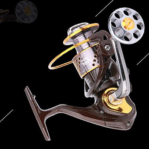 KinshopS Snake Pattern 12+1 Gapless Spinning Wheel Reel Fishing Reel Metal Wheel: Amazon.es: Hogar