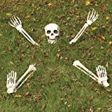 Yikes in the Yard Buried Lawn Skeleton Outdoor Halloween Decoration