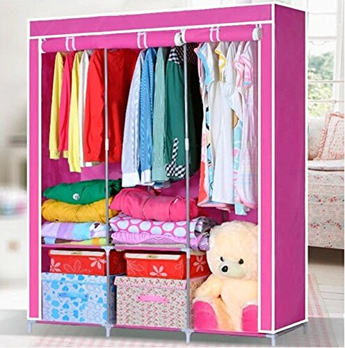 Generic New Portable Bedroom Furniture Clothes Wardrobe Closet Storage Cabinet Armoires by Generic