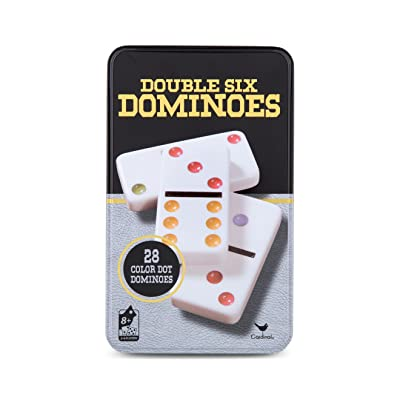 Cardinal Games - Traditions: Double Six Color Dot Dominoes: Toys & Games