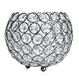 Weiliru Valentines Day Crystal Tea Light Candle Holders/Candle Shade for Wedding Silvery for Wedding Decor and Home Decor