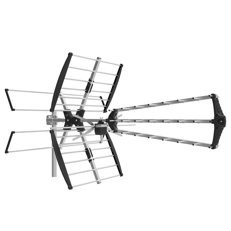 1byone Digital Outdoor/Roof HDTV Antenna, High Gain VHF/UHF Combo TV antenna, 75 Miles Range Extremely High Performance TV Antenna