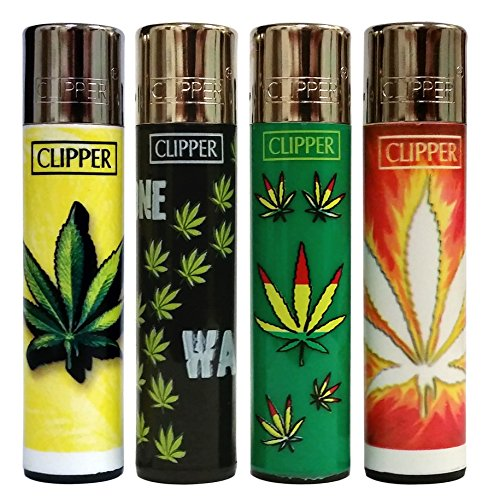 Bundle-4-Items-Clipper-Lighter-Marijuana-Hemp-Hojas-Maria-Collection