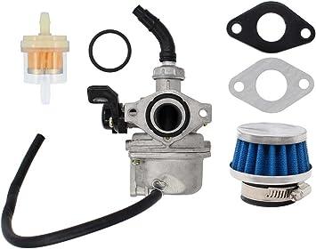 Amazon.com: Carburetor Air Fuel Filter PZ19 Carb For 50cc 70cc 90cc 110cc  125cc ATV Dirt Pit Pocket Bike Taotao Honda Go-kart 4 wheeler Baja  Motorbike Kawasaki Quad Carb W/Gaskets: AutomotiveAmazon.com