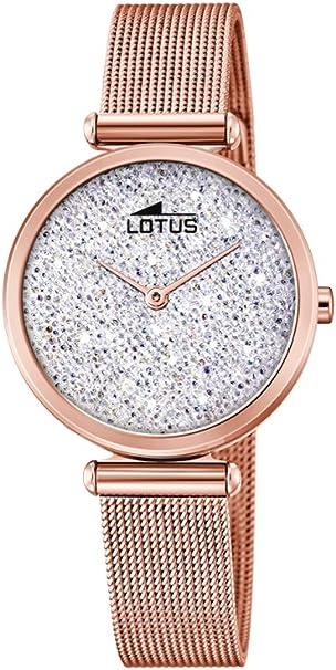 Lotus Watches Reloj Análogo clásico para Mujer de Cuarzo con Correa en Acero Inoxidable 18566/1