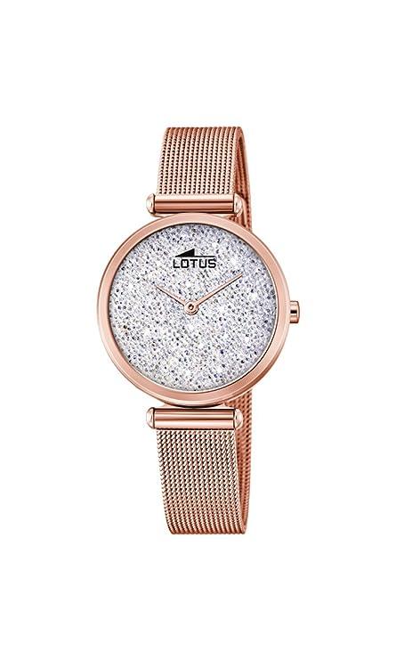 Lotus Watches Reloj Análogo clásico para Mujer de Cuarzo con Correa en Acero Inoxidablehttps://amzn.to/2YNzykk