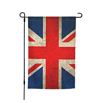 Old And Worn Distressed Vintage Union Jack Flag Garden Flag, Double Sided Holiday Home Flag For Farmhouse Yard Outdoor Indoor Decoration 12 X 18 Inch