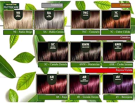 Phytocare Tinte permanente y nutritivo para cabello sin amoniaco, sin PPD, sin SLS, sin parabenos Color Chocolate 5WN