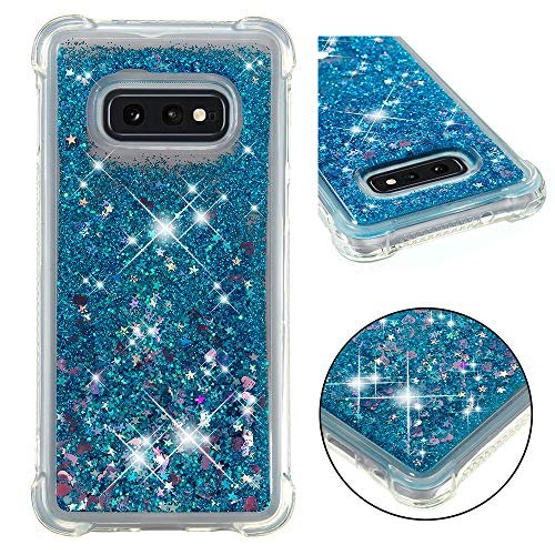 - Galaxy S10e Case, ZERMU Shockproof Transparent Colorful Heart Pattern Durable Moving Liquid Sparkling TPU Bumper Luxury Bling Quicksand Flowing Floating Glitter Cover Case for S10e 5.8 Inch 2019 Model