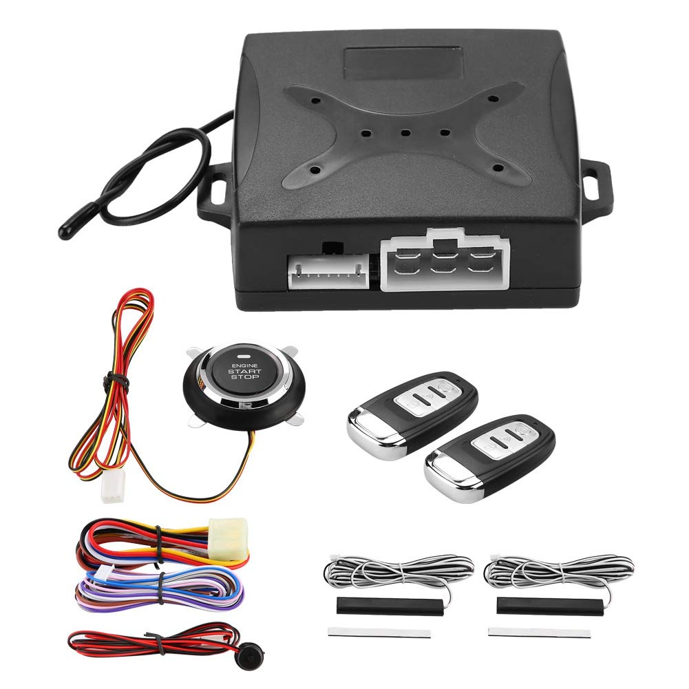 Senyar Car Alarm System Engine Ignition Keyless,ABS Plastic Entry Push Button Remote Starter Universal