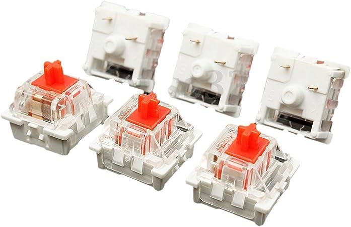 ACAMPTAR 10Pcs PláStico para Cherry Red 3 Pin MX RGB ...