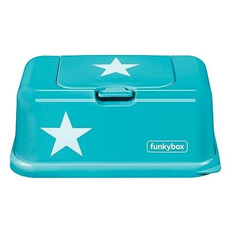 Funkybox - Caja Porta Toallitas Húmedas (Aqua Star)