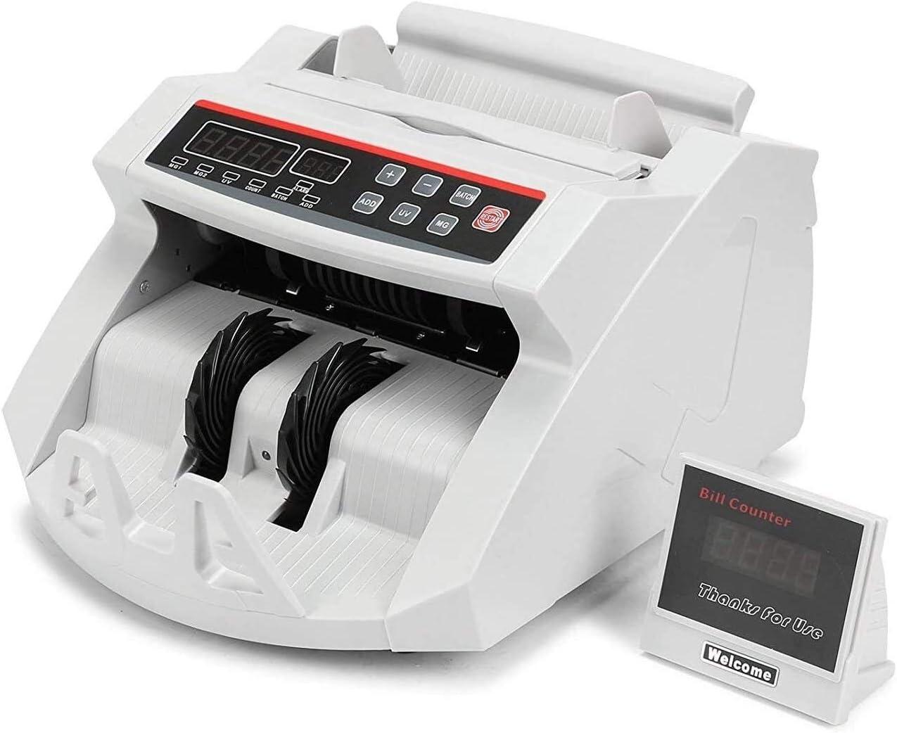 CHUXJ Cuenta de Efectivo máquina Cuenta Contador de Dinero de los EEUU del Dinero con la máquina de Rayos UV MG Detector de Billetes Falsos Contador de Dinero Pantalla LED Contador de Dinero