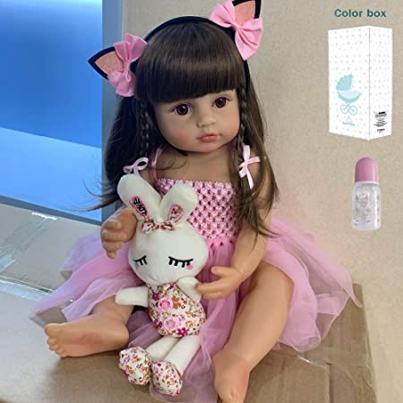22-Inch Anatomically Correct Girl Toddler Doll