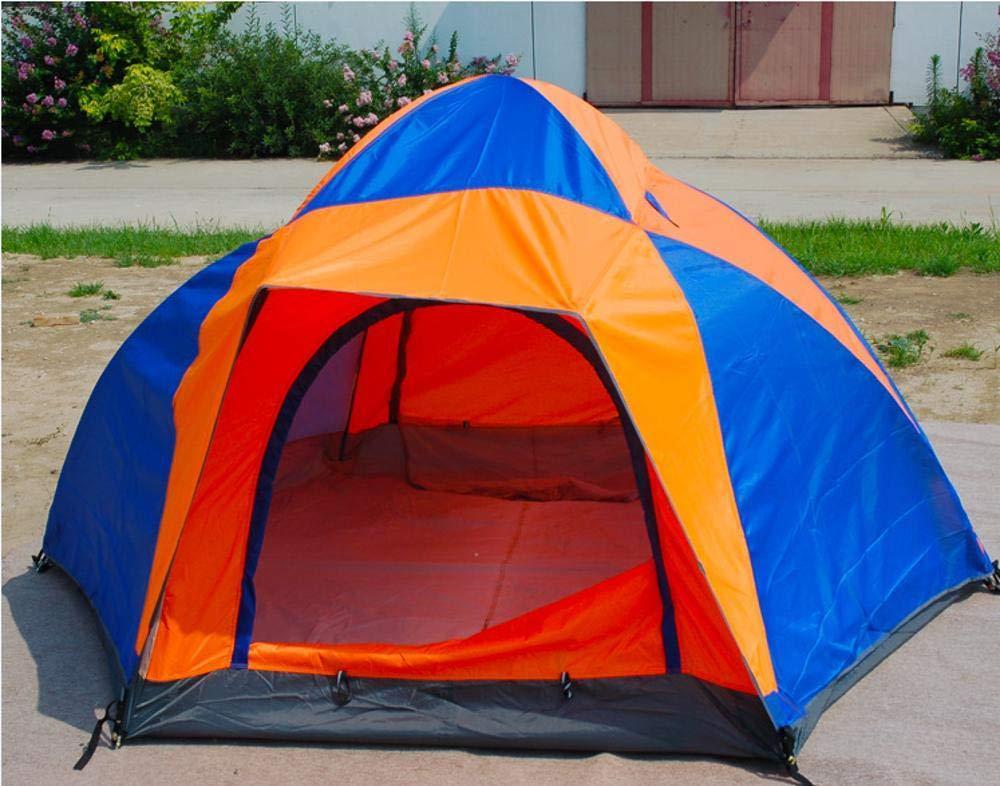 Lxj Outdoor-Zelt Double 4-Personen-Zelt 3-4 Personen Zelt Familie Doppel Multiplayer-Camping Regen Camping 210  250  h130cm