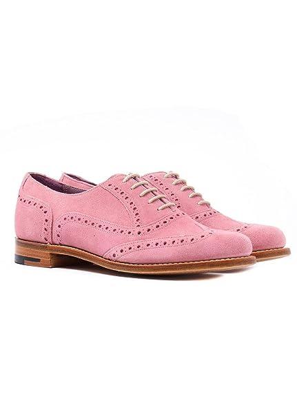 e8bd53c67e3aa9 Barker Women's Freya Classic Suede Brogues - Pink, Pink, UK4: Amazon ...