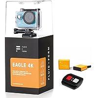Cámara Deportiva 4K por FLUID & FORM - Aplicación WIFI e iSmart rápida y fácil - Control remoto 2.4G - Baterías 1,350 mAh de larga duración (Incluye 2 baterías)